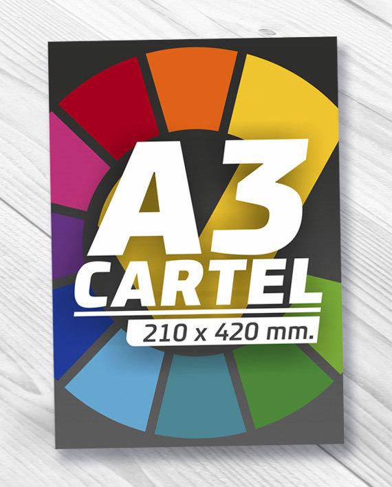 diseño e impresión de carteles A3