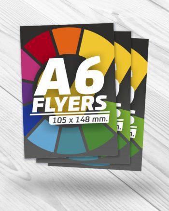 diseño e impresión de flyers A6