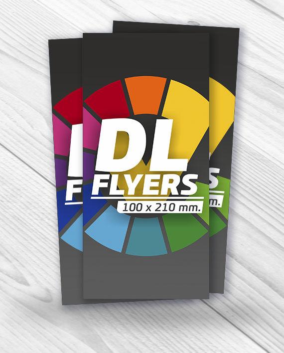 diseño e impresión de flyers Alargados