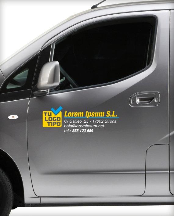 vinilo datos empresa vehiculo comercial