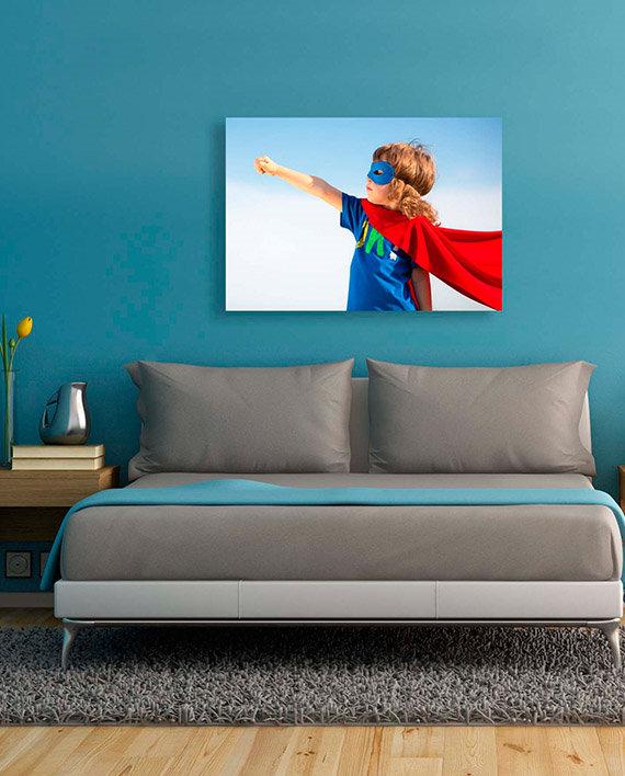 lienzo con marco impresión personalizada