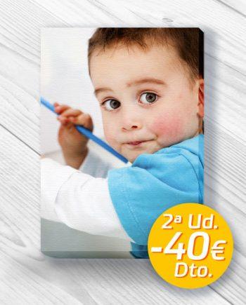 cuadro foto lienzo promo oferta 2 unidad