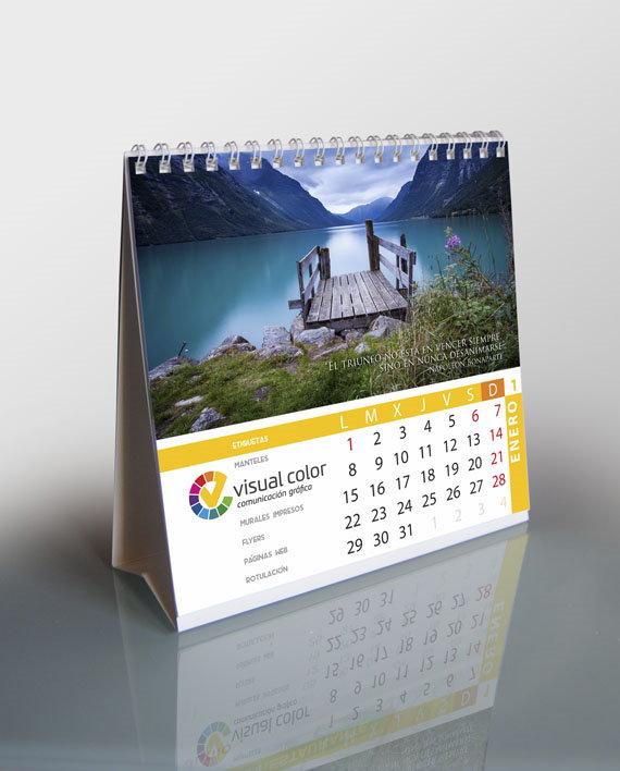 calendario sobremesa 12 páginas
