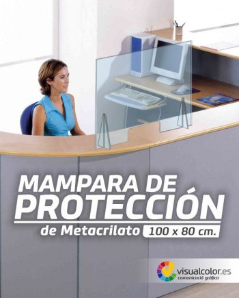 Mampara de proteción covid 19 recepción oficina