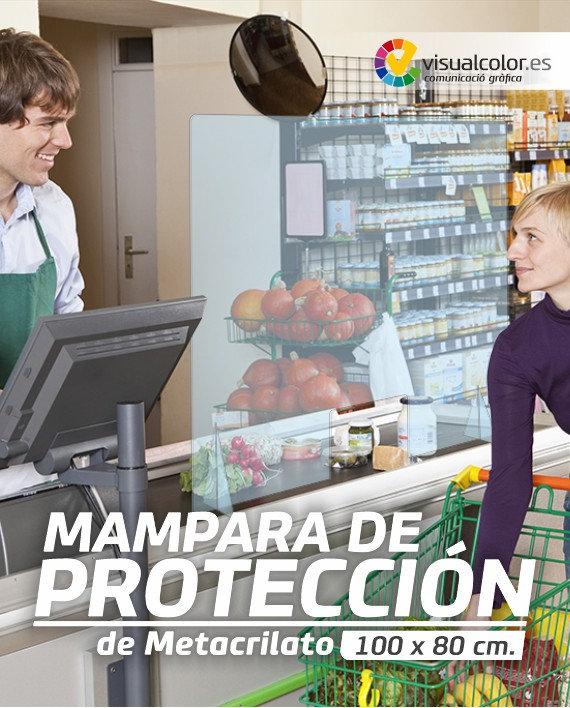 Mampara de protectora covid 19 tienda estanco oficina